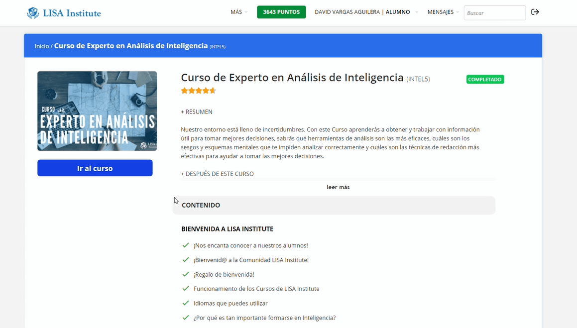 Análisis de Inteligencia