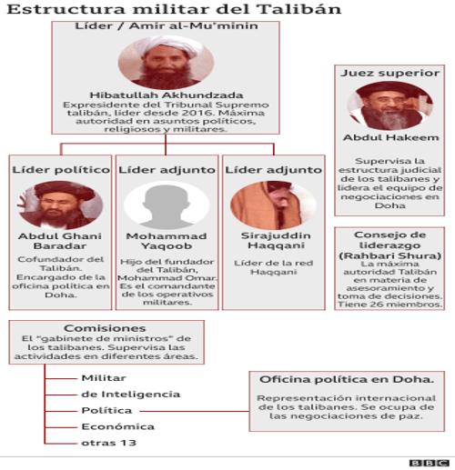 estructura talibán